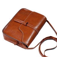 Wholesale Black Leather Cross Body Purse - Wholesale-2016 Fashion Handbags Women Bags Leather Cross Body Shoulder Bags Vintage Purse Bag Womens Messenger Bag bolsa feminina #YW