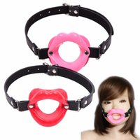 Wholesale sex toys o ring gag - New Sex Toys for Women Fetish Leather Rubber Lips O Ring Open Mouth Gag Bondage Restraints BDSM Sex Erotic Toy