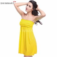 Wholesale Ladies Dress Suits Wholesale - Sexy beach dress summer style outdoor ladies push up bathing suit cover ups sweets Candy colors bikini cover ups dress