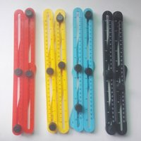 Wholesale 4 Colors Multifunctional Four Folding Plastic Ruler Metric Scale Practical Measuring Angle Ruler with Durablity and Flexibility