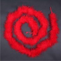 Wholesale Wholesale Feather Garments - 2m DIY Thick Feathers Boa for Dress Garment Hat Decor Clothes Craft Feathers Boas Party Supplies