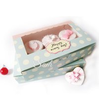 Candy Box macarons packaging boxes - DGH047 Cookie Package the Happy Everyday Spot Macarons Box Cake box Chocolate Muffin Biscuits Box x13 x5cm