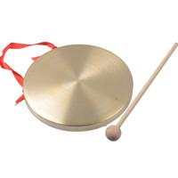 Wholesale copper cymbals - Alto Hand Gong Chapel Copper Cymbals Percussion 15CM Diameter Opera Gong