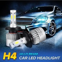 Wholesale H4 Led Car Light 12v - 1 Pair S2 Auto Car H4 H11 H7 H13 9004 9005 9006 LED Headlights 72W 6000K 8000LM COB Auto Led Headlamp 12v 24v