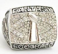 Wholesale Football Rings - Free Shipping high quality fantasy football championship ring solid souvenir Sport men ring fan gift