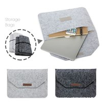 Wholesale 13 Inch Laptop Briefcase - Soft Sleeve Bag Case For Apple Macbook Air Pro Retina 11 12 13 15 Laptop Anti-scratch Cover For Mac book 13.3 inch