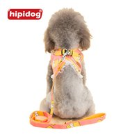 Wholesale Lace Vest Extra Large - Hipidog Cartoon Printed Lace Vest Harness Leash Set Mesh Padded Vest Apparel Costume Strap Chest Leads Set for Small Dog Pet Cat