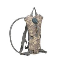 Wholesale Camo Hydration Backpacks - FBA Drop Shipping 3L Portable Hydration Packs Camo Tactical Bike Bicycle Camel Water Bladder bag Assault Backpack Camping Hiking Pouch