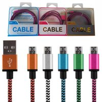 Wholesale Micro Charge Cable Smartphone - Usb cables colorful micro usb Charging Type C Cable nylon High Speed charging cable for Android SmartPhone with retail box