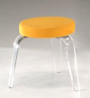 Wholesale Fashion Clear Lucite stools acrylic bar stools with colorful fabric cushion pleaxiglass chair