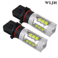 WLJH 12V 24V 30V 30W Led H4 H7 H8 P13W 1156 1157 7440 7443 Chip Car DRL Projecteur Phare Bulbe à brouillard