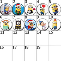 Wholesale Despicable Charms - despicable Me 100 Hot18mm 12mm 20mm glass Snaps Button Glass Ginger Snap Button Fit Charm Bracelet Jewelry Fashion Accessories