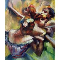 картины маслом танцоры оптовых-Современное искусство четыре танцора Эдгар Дега картины маслом воспроизведение высокого качества ручной росписью домашнего декора