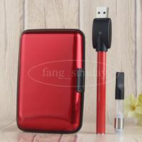 Wholesale Ego 1ml - Super Slim Ego 280 mah Button Battery Plastic Dab Pen Case with Electronic Cigarette Bud Oil Wax .5ml 1ml Vape Pen Case