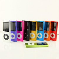 Wholesale Mp4 Player Cases - MP4 4TH Gen 8GB 9 Colors Slim FM Radio Video Player Music Playing Time 30Hours +Silicone Case+ USB Cable+ Earphone