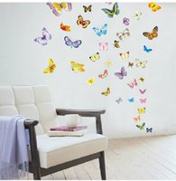 Le papillon amovible flies le paysage Wall Sticker Sticker Décoration murale Décoration murale Meilleur Hot SellNon Toxic et Tasteless1 5qc J R