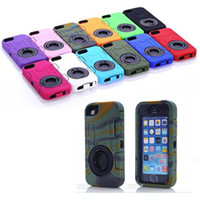 Wholesale Iphone5 Rubber - Rugged Hybrid 3 in 1 Rubber Ballistic Cover Hard Plastic cell phone Case For IPHONE5 5S4 4S SAMSUNG S5 NOTE3 I9600 L50w 100pec