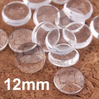 Wholesale Glass Cabochons Tray Pendant Cover - 100pcs lot Wholesale clear glass cabochons tray pendant cover 12mm Round Cabochons