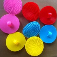 Wholesale Head Massager Accessories - Plastic Round Shampoo Washing Hair Massage Brush Scalp Massager Combs Head Cleaning Bath Brushes Bathroom Accessories High Quality 0 5ba A