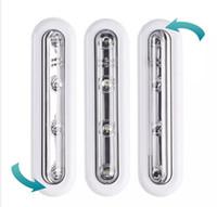 pille çalışan lamba ışığı toptan satış-Diyot Beyaz LED Dokunmatik Kumandalı Pil Sopa Duvar Altında Kabine Dolap Işık Aktif lambalar Bileşenleri