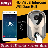 Wifi Doorbell HD 720P Wireless Wired Video Door Phone Intercom Night Vision Detecção de movimento Alarme Controle remoto wifi door bell