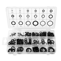 Wholesale gaskets kit - 225pcs Rubber O Ring Oring Seal Plumbing Garage Set Kit 18 Sizes With Case TE486+