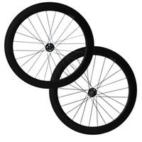 Wholesale Wheels 15mm - 700C Full Carbon Wheels 12mm 15mm 12x142mm Thru Axle 6 Bolt Disc Brake hubs 60mm Clincher Tubular carbon Cyclocross bike wheel