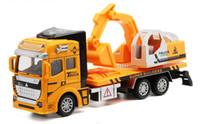 Wholesale Toy Model Excavators - Alloy toy excavator models model children's toy car self-discharging truck Concrete Mxier Truck excavator