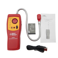 Wholesale Digital Combustible Gas - Wholesale- AS8800 Digital combustible gas analyzer hand-held port flammable gas Leak Detector with Sound Light Alarm+Battery