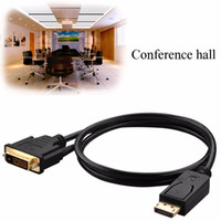 Wholesale Dvi Cable Dual Link - Good quality DP TO DVI Cable 1.8M DisplayPort Plug to DVI-D 24+1 Gold Plated Dual Link Video Cable Male to Male For HDTVs Projector free DHL
