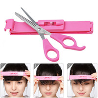 Bijoux à ciseaux Hot 1 Set Bangs Ciseaux à cheveux Cisailles à dilater Cut Barber Tools Ciseaux de coiffure Clipper Set Caliper For Girls Femmes