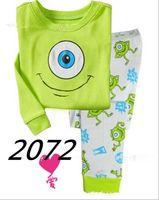 Wholesale Childrens Christmas Sleepwear - Retail 1 sets lot Girls Minnie Mouse long sleeve pajamas kids cotton pyjamas Childrens Cartoon sleepwear Girl's homewear Pants suit