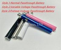 Wholesale Battery Manual - Manual Evod Ce3 usb passthrough battery 350mah with variable voltage PreHeat function Battery for bud ce3 cartridge o pen vape tank