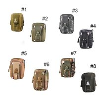 Wholesale Wholesale Military Packs - Unisex Outdoor Sport Casual Tactical Belt Loops Waist Bag Molle Military Waist Fanny Pack Smartphone Mobile Phone Case 2509001