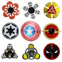 Wholesale Trooper Star - Star Wars Super Heroes Metal Fidget Spinners Captain America Bat SHIELD Storm Trooper Darth Vader Rebel Symbol Alloy Spinner Toys
