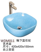 Wholesale Ceramic Art Basin - Ceramic art wash basin Sink Oval stape for bathroom and hotel marble basin for globele market