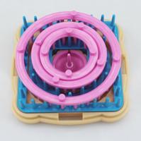 herramientas de pasatiempos al por mayor-Nuevo 9 Unids Tejer Tejer Flor Daisy Patrón Hacedor de Lana de Hilo de Aguja Tejer Hobby Telar Tejer Máquina de Coser herramientas