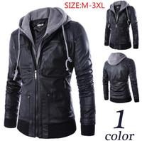 Wholesale Leather Sheepskin Jacket Black - 2015 Men's genuine leather jacket male Fur coat real leather jackets Sheepskin coat for men plus