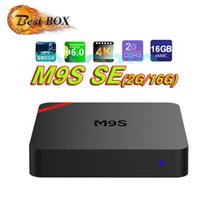 2017 Amlogic S905X Smart TV Box M9S SE Quad Core cortex-A53 CPU Mali-450 GPU voll geladen 2 gb 16 gb streaming tv boxen MINI PC