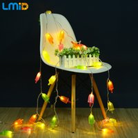 LMID Ice Cream Lights 5M 30 LEDs LED String Light AC 110V 220V Warm White Colorful Home Summer Holiday Fairy Decoration Lighting