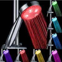7 Couleur Light Head Shower Couleur automatique de la tête Changing Lighted Bathroom LED Pomme de douche Glow No Battery Led Shower