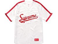 Wholesale Men Short Sleeve V Neck - SUPREMAN SS18 satin casual V necked basebal Justin Bieber Dj Khaled black S-XXL neutral clothing