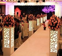 Wholesale cm Luxury Wedding Carved Pillar Half Carving Design Wedding Road Lead Stand With Led LLFA