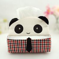 Wholesale Wholesale Panda Bear Plush - Wholesale- 1PC And Super Meng cute cartoon tissue box tissue pumping Plush Panda Or Easily bear