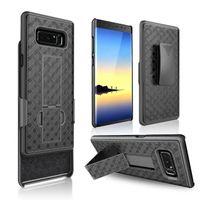 Wholesale galaxy note belt clip - For Samsung Galaxy Note 8 case Black Mat grain Belt Clip Swivel Kickstand Holster Case Cover