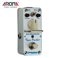pédales d'effets de phase achat en gros de-AROMA ATP-3 Tube Pusher Valve Combo Simulator Pédale D'effet Guitare Électrique True Bypass Guitarra Partie Accessoire