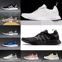 Wholesale Cities Pvc - Originals NMD Runner R1 Mesh Triple black White Cream Salmon City Pack Men Women Running Shoes Sneakers NMD Runner Primeknit sports shoes
