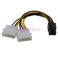 Wholesale ide connector pin for sale - 500pcs IDE Dual Pin Molex IDE Male to Pin Female PCI E Y Molex IDE Power Cable Adapter Connector For Video Card