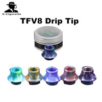 Wholesale Colorful Shipping Boxes - Colorful TFV8 Resin Drip Tip For SMOK TFV8 TFV12 TFV8 Big Baby Tanks with Single Plastic Box Packing Resin Mouthpiece DHL Free Shipping