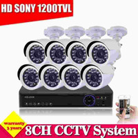 Wholesale Ip Ir Camera Dvr System - video surveillance cctv 8 channel 960h dvr with security 1200TVL IR cut camera system HDMI 1080P NVR HVR for ip camera